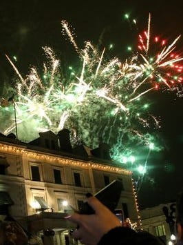 Fireworks in downtown Pensacola helped mark the end of 2014 and the beginning of 2015.