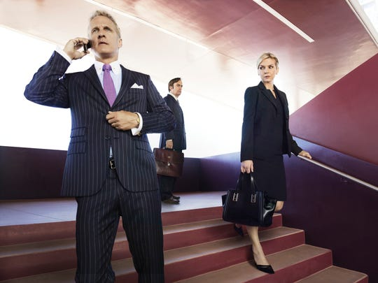 "Patrick Fabian stars as Hamlin and Rhea Seehorn as Kim in AMC's ""Better Call Saul."" The new series, a prequel to the cable network's enormously successful ""Breaking Bad,"" has its two-night premiere Sunday and Monday."
