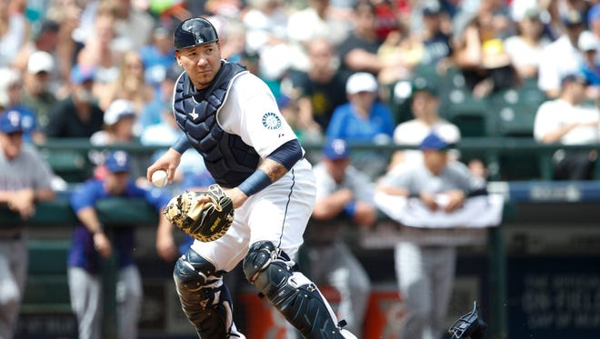 The Mariners traded backup catcher Jesus Sucre to Tampa Bay on Wednesday for a player to be named later or cash considerations.