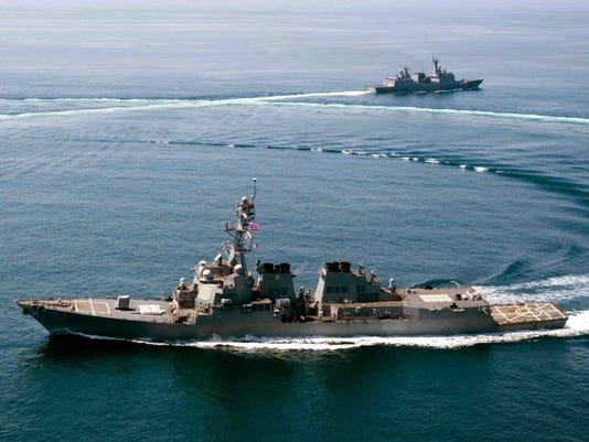 China condemns U.S. warship's route in South China Sea