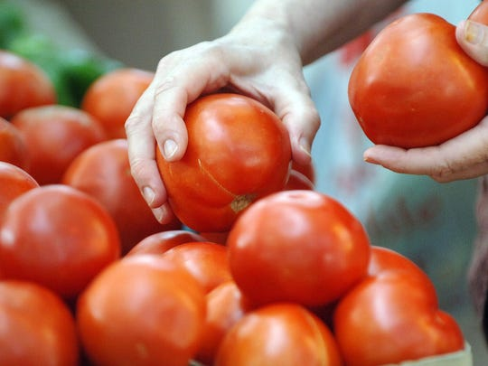 Shoppers always look for fresh tomatoes in the summer.