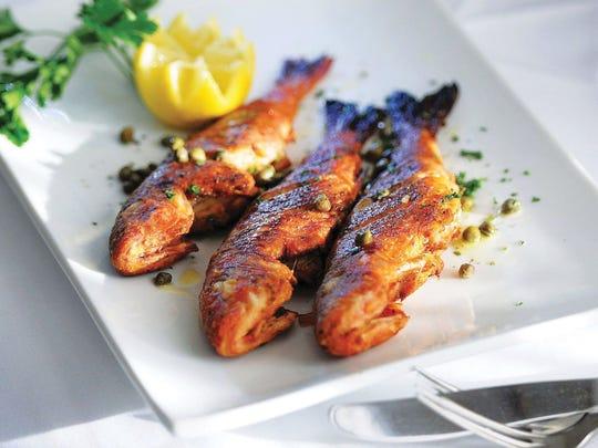 Fried Barbounia fish at Varka Estiatorio in Ramsey.