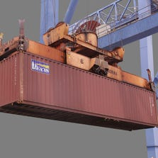Shipping container in port (file photo)