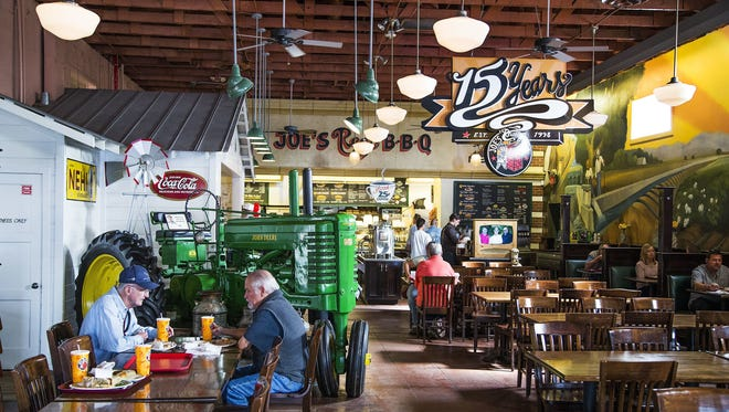 Opened in 1998, Joe's Real BBQ harkens back to the agricultural roots of the town of Gilbert.