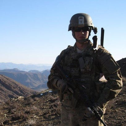 Former Army sergeant and tank crewman Aaron Fischer
