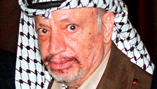 The late Palestinian leader Yasser Arafat in London in 1997.
