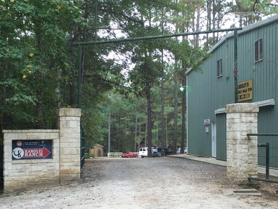 View of the Waverly Hills Gym, at the Karolyi Ranch,