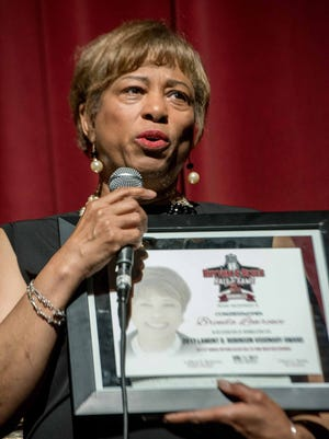 Congresswoman Brenda Lawrence  was an inductee at the 2017 Rhythm & Blues Hall of Fame at the Music Hall Center for the Performing Arts.