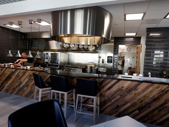 The top-shelf kitchen at the Bucks' training facility