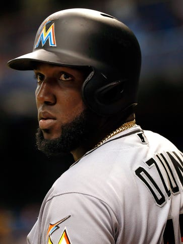 Marlins' Marcell Ozuna, batting .307, is on track for
