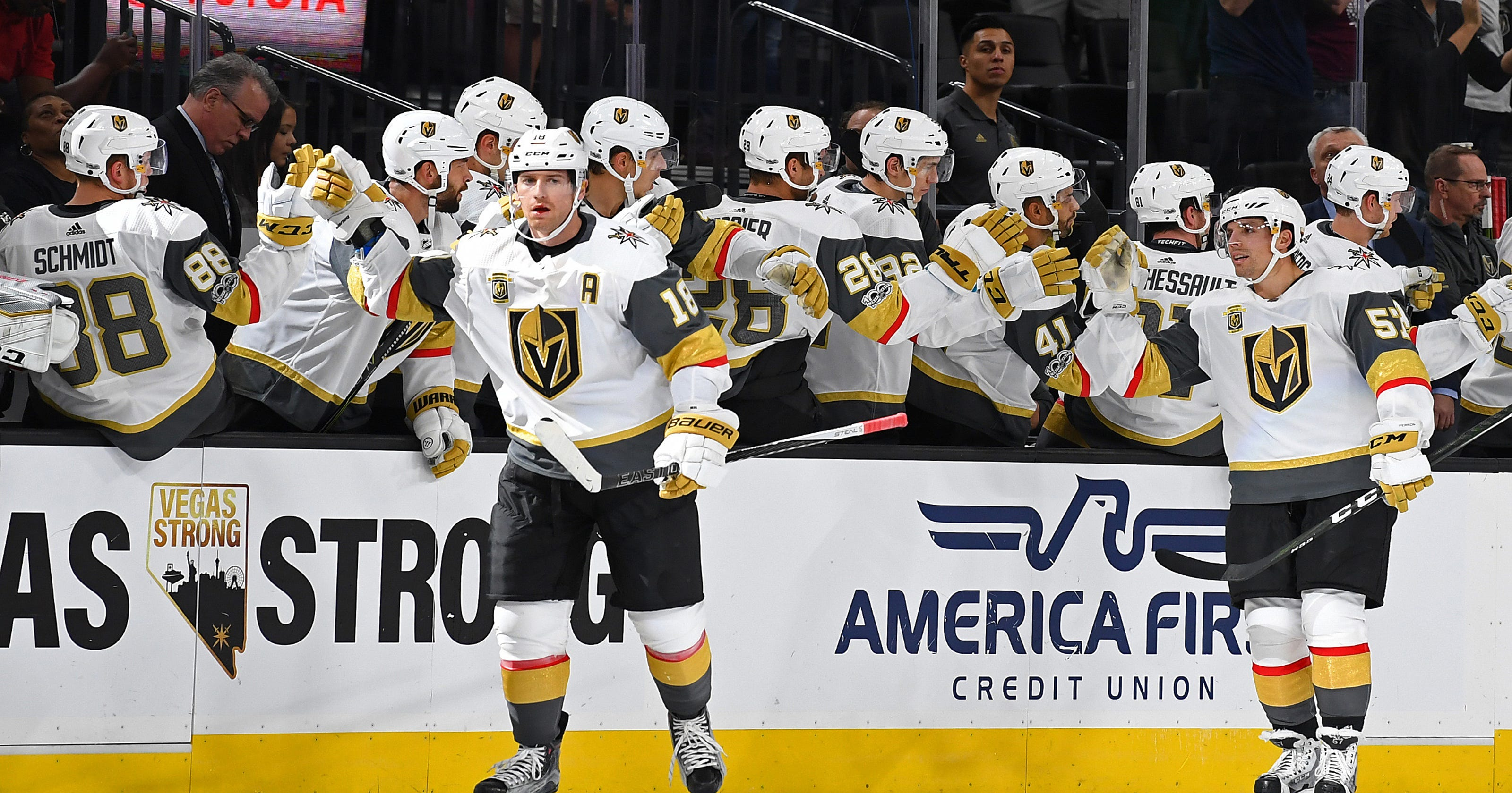 14a2acedf Golden Knights match another NHL record in blowout win over Avalanche