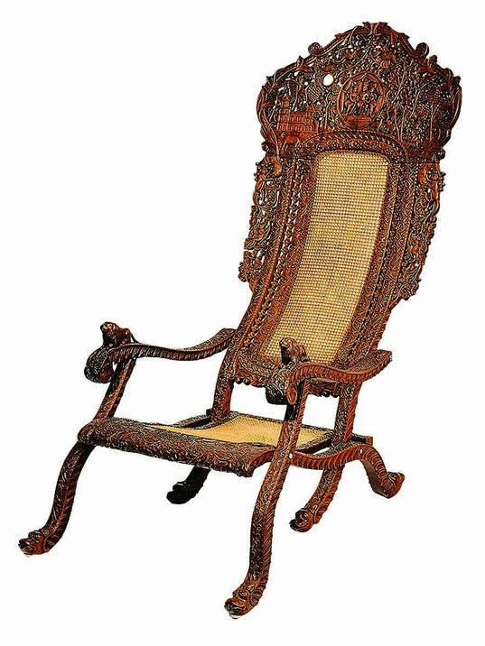 Antiques carved wood furniture