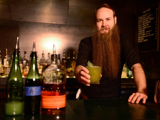 Pour Me Another's spotlight on The Sutler's bartender Marcus West and his specialty drink called The Gambler.