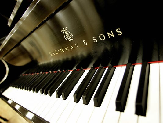 The keyboard of a Concert Grand Model D