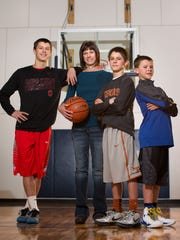 Tammy Torgerson is a busy mom with three boys who play basketball, from left, Kody, 16, Kyle, 14, and Levi 11.