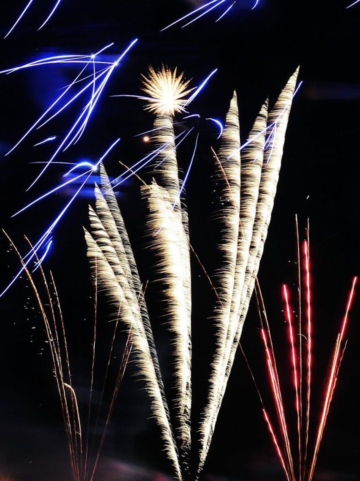 Fireworks light up the sky above Nelson Park on July