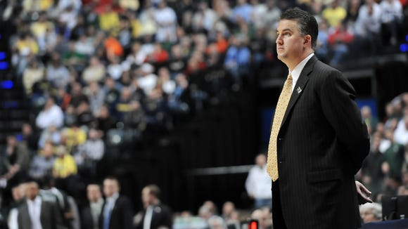 FILE - Purdue head coach Matt Painter added another commit to the Boilers' 2014 class with 7-foot-2 Alabama center Isaac Haas.