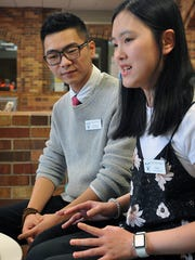 Feifei Wu talks about the training she and her boyfriend, Edward Yao, have received to become CASAs, or Court-Appointed Special Advocates, for CASA of Red River. They are students at Midwestern State University and have been in Wichita Falls for almost two years.