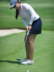 Alison Gastelum of Chihuahua, Mexico putts on No.