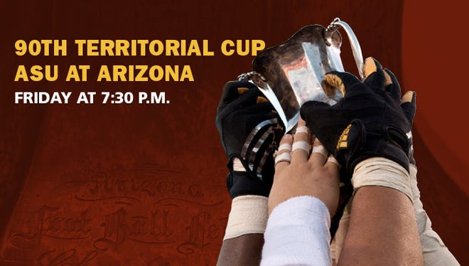 Arizona State and Arizona will play for the Territorial Cup on Friday in Tucson.