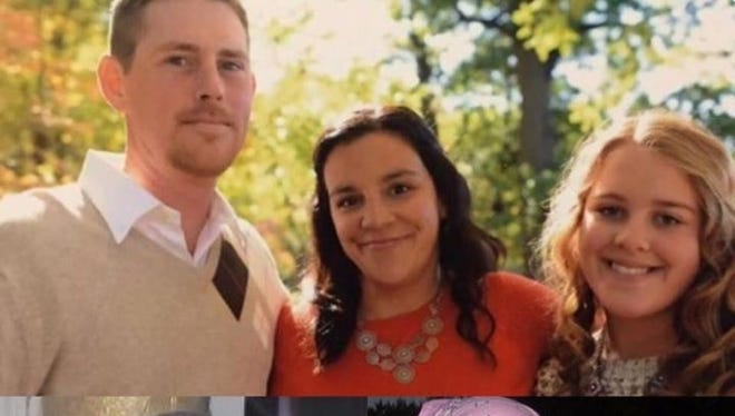 Images of Jeannie Vaquera Snelling along with her husband Travis and daughter Maddie.