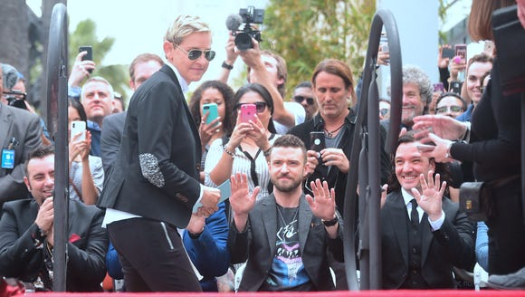 Ellen DeGeneres spoke as part of the Walk of Fame ceremony,