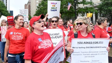 Historic teachers rally in Raleigh draws thousands, sights set on November elections