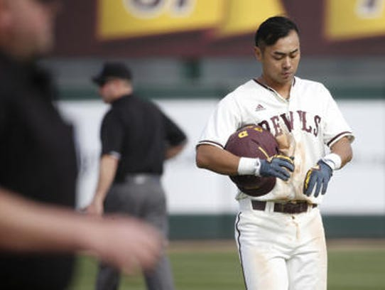 Freshman Lyle Lin is leading ASU baseball with a .356