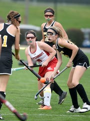 Annville-Cleona's Katelyn Brightbill launches the ball