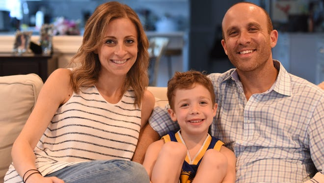 Jaime, Cooper and Todd Palatnek. The Palatnek family started Superhearts, a New Jersey chapter of the Children's Heart Foundation, to raise funds and awareness for Congenital Heart Defects. Their son, Cooper, was born with a CHD and had surgery to repair it at just four months old.