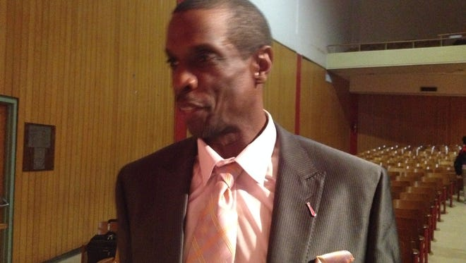 Former major league star pitcher Dwight Gooden, who spoke to city students at Robert E. Lee High on Thursday, is in town as part of the Alabama Baseball Coaches Association convention.