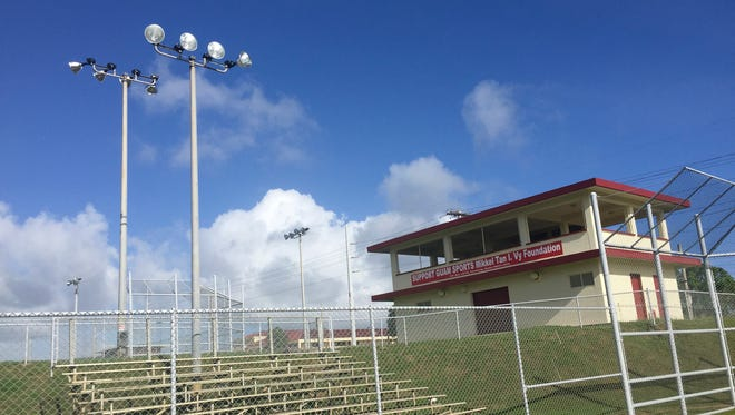 The Tiyan softball fields, as seen on Dec. 31.