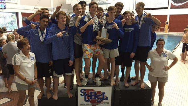 The St. Joseph's boys won the Class AAA swimming state championship Saturday at the USC Natatorium in Columbia.