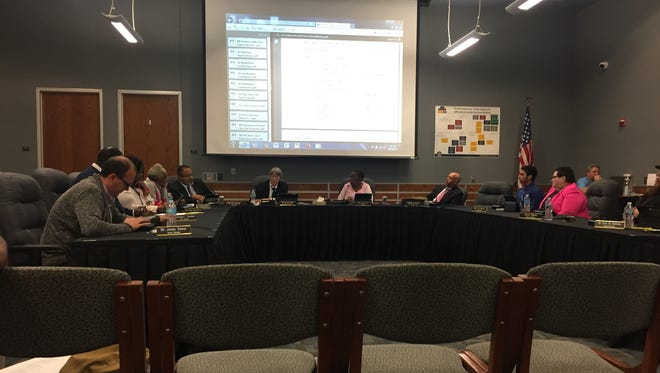 York City school board members met during a regularly scheduled board meeting on Wednesday, Oct. 18, 2017. Aside from a notice of a special meeting on Thackston, no mention was made of the charter school.