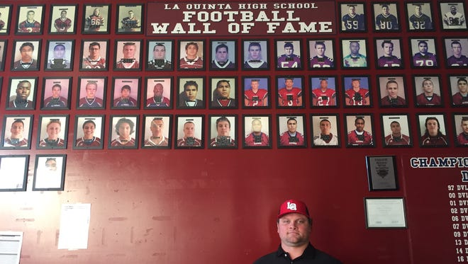 Patrick Rivenes, who helped La Quinta High School to a CIF championship as a player, will return to the school as the new head football coach.