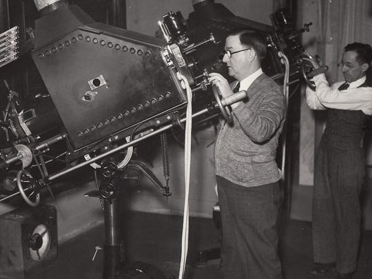 Projectionists at Detroit's Michigan Theatre in downtown