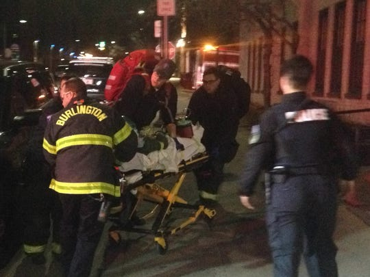 Emergency responders perform CPR on a man shot by police