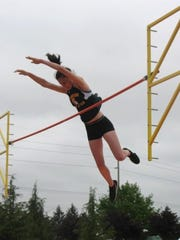 Bainbridge senior Emma Chee placed third in the 3A girls pole vault at the state championship track and field meet at Mount Tahoma High School.