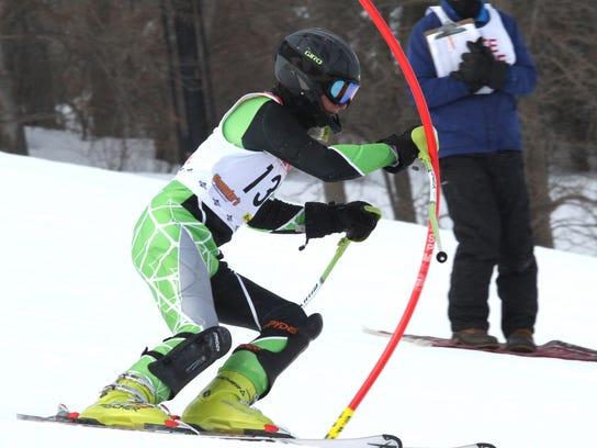 Brighton's James Staszel took fourth in the slalom