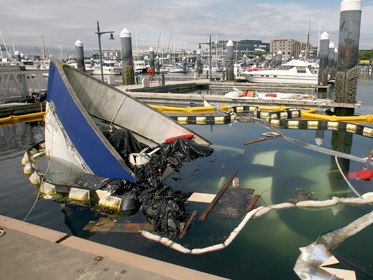 The 80-foot yacht Eventide sank Saturday at Bremerton
