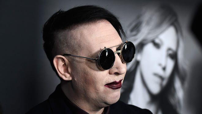 "Marilyn Manson attends the premiere of ""We Are X"" at TCL Chinese Theatre in Hollywood on Oct. 3, 2016."