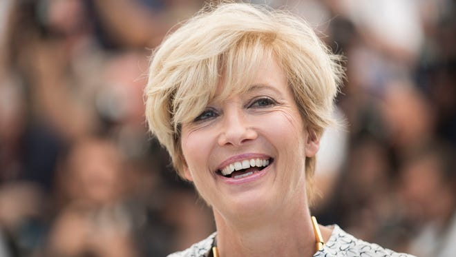 Emma Thompson, in May 2017 in Cannes, is among those receiving honors in the Queen's Birthday Honors List.