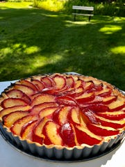 Fresh plums make for a luscious summer dessert, baked