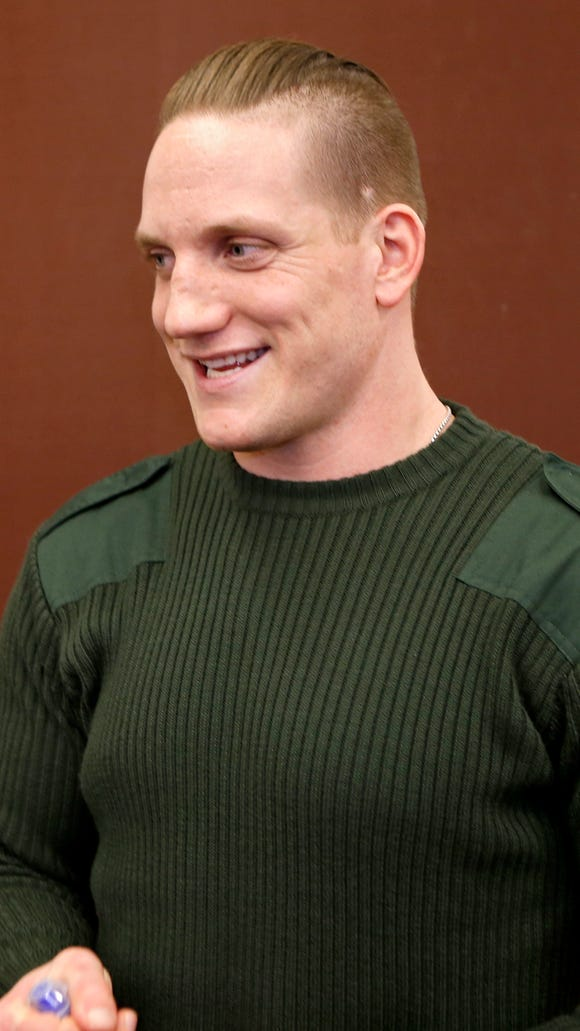 The Cincinnati Bengals introduced A.J. Hawk, after the former Ohio State and Green Bay linebacker signed with the team, Wednesday, March 11, 2015.
