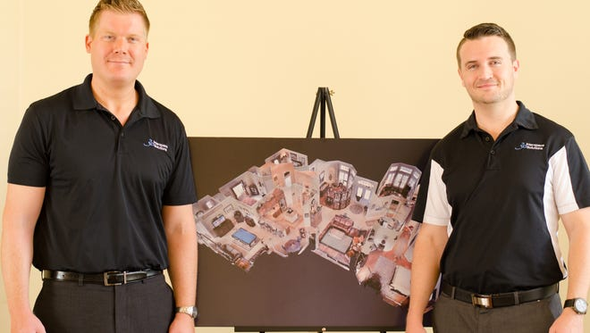 Business partners Bryce Clerk, left, and Sean Radigan of 3D Interspace Solutions LLC.