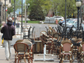 When tables and chairs are in order, the city's requirement