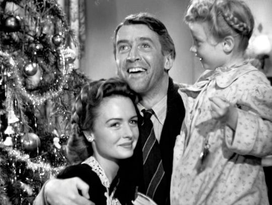 """The Frank Capra-Jimmy Stewart classic """"It's a Wonderful Life"""" plays 2 and 6 p.m. Dec. 16 at the Tennessee Theatre."""