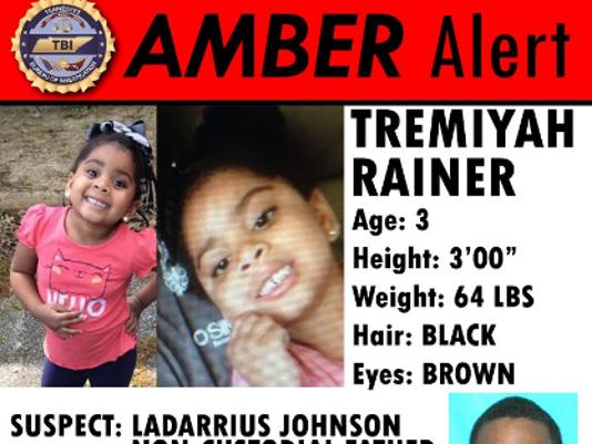 Amber Alert for Tremiyah Rainer