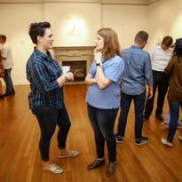 Guests at pARTy 318 enjoy the festivities at the Masur Museum of Art on Thursday, September 22, 2016.