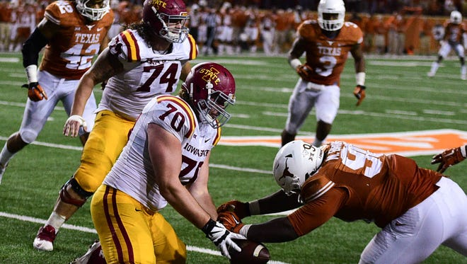Iowa State offensive lineman Daniel Burton could miss his second-straight game Saturday.